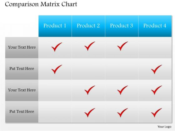 Business Framework Template Comparison Matrix Powerpoint