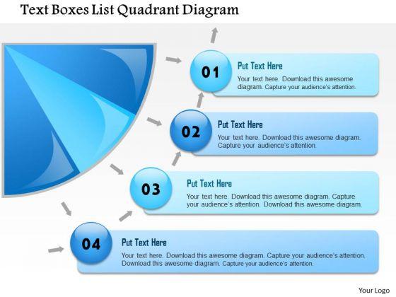 Business Framework Text Boxes List Quadrant Diagram PowerPoint Presentation