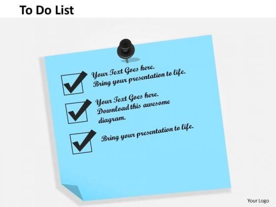 Business Framework To Do List PowerPoint Presentation