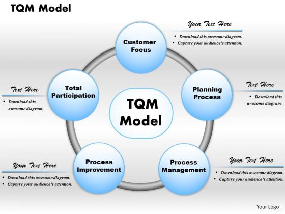 Business Framework Tqm Model PowerPoint Presentation