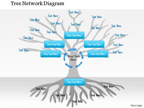 Business Framework Tree Network Diagram PowerPoint Presentation
