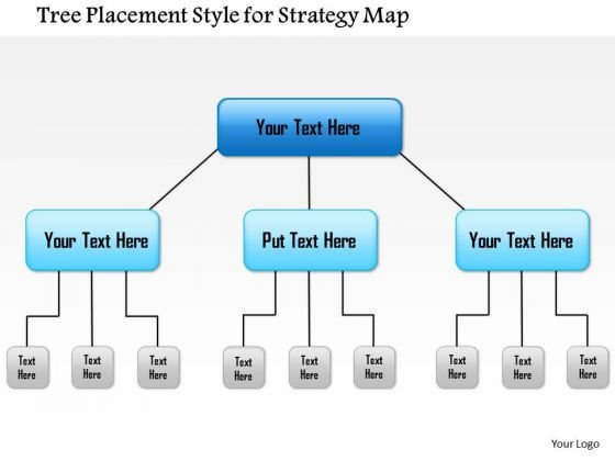 Business Framework Tree Placement Style For Strategy Map PowerPoint Presentation