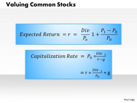 Business Framework Valuing Common Stocks PowerPoint Presentation