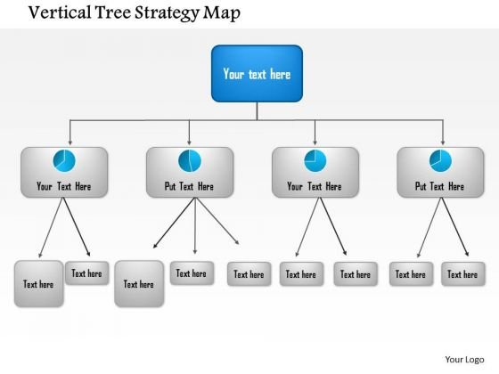 Business Framework Vertical Tree Strategy Map PowerPoint Presentation