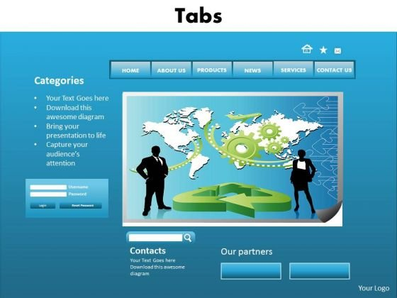 Business Graphic PowerPoint Templates Business Tab Ppt Slides