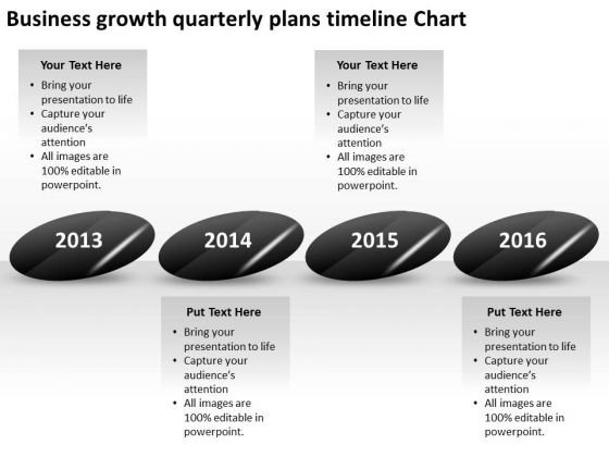 Business Growth Quarterly Plans Timeline Chart PowerPoint Templates Ppt Slides Graphics