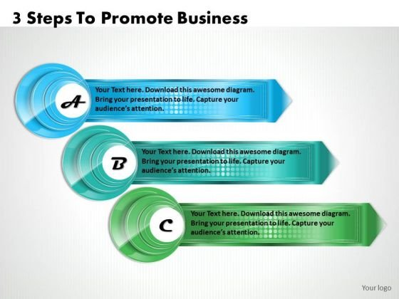 Business Growth Strategy 3 Steps To Promote Management Ppt Slide