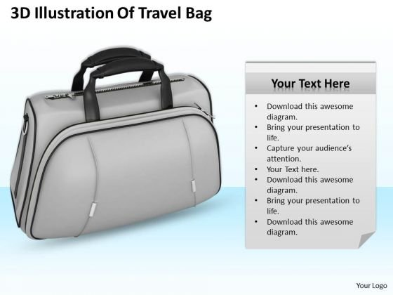Business Growth Strategy 3d Illustration Of Travel Bag Images Photos
