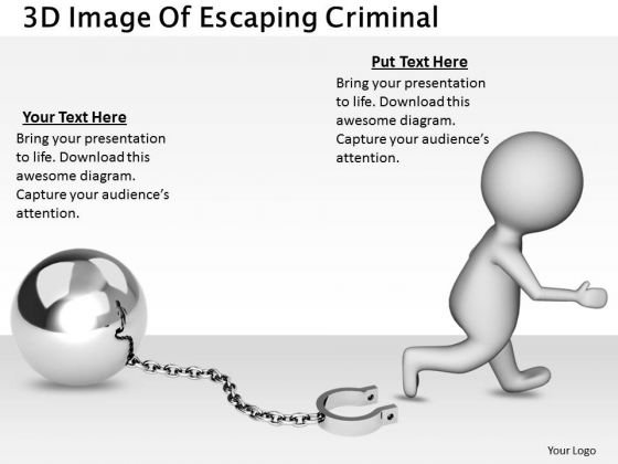 Business Growth Strategy 3d Image Of Escaping Criminal Concepts