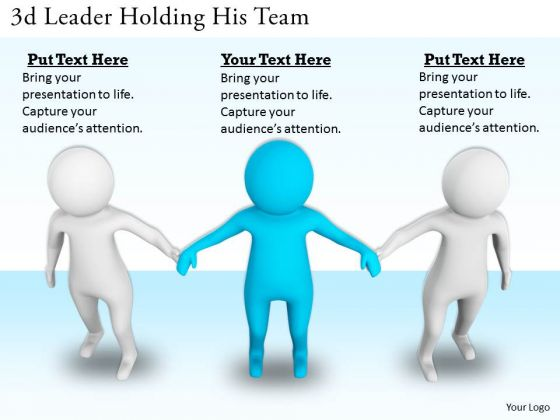 Business Growth Strategy 3d Leader Holding His Team Concept