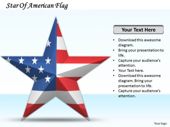 Business Growth Strategy Star Of American Flag Clipart Images