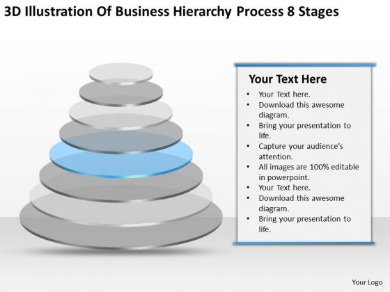 Business Hierarchy Process 8 Stages How To Prepare Plan PowerPoint Templates