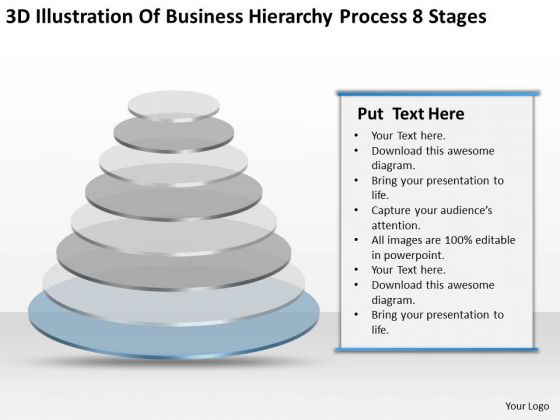 Business Hierarchy Process 8 Stages Ppt Plan Outline PowerPoint Slides
