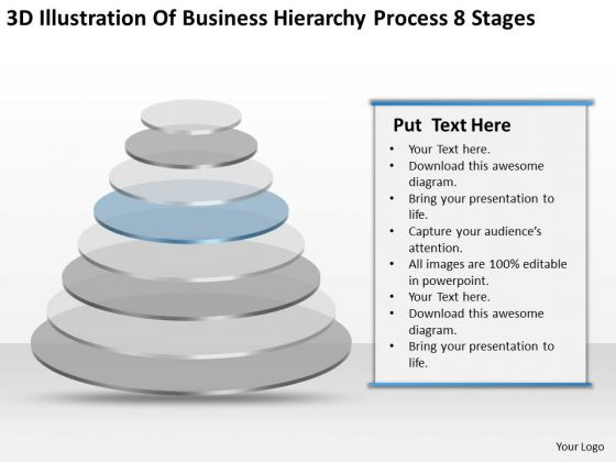 Business Hierarchy Process 8 Stages Ppt Planning PowerPoint Templates