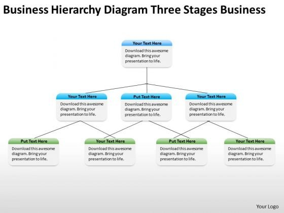 Business Hirerchy Diagram Three Stages Ppt Service Plan PowerPoint Templates