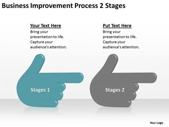 Business Improvement Process 2 Stages Ppt Plan PowerPoint Slides