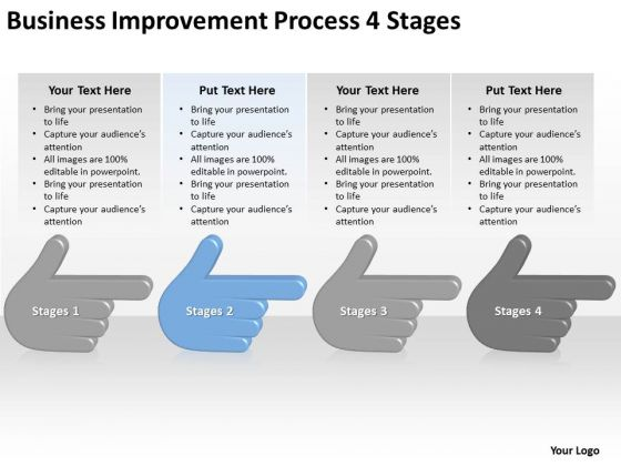 Business Improvement Process 4 Stages Ppt How Do Make Plan PowerPoint Slides