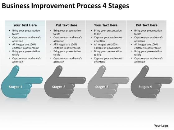 Business Improvement Process 4 Stages Ppt Plan PowerPoint Templates