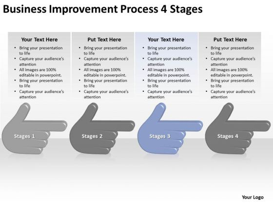 Business Improvement Process 4 Stages Ppt Plan Template PowerPoint Templates
