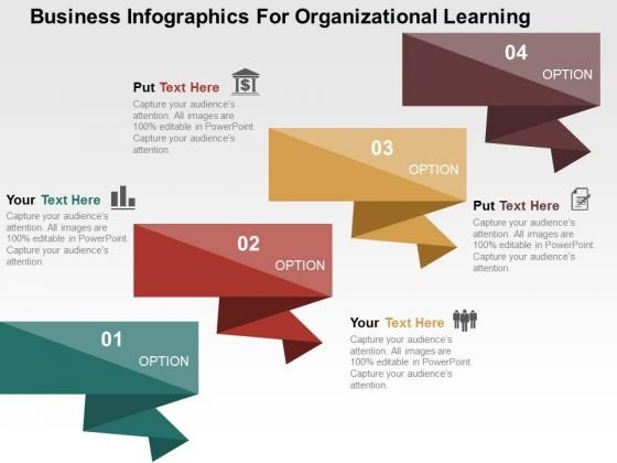 Business Infographics For Organizational Learning PowerPoint Template