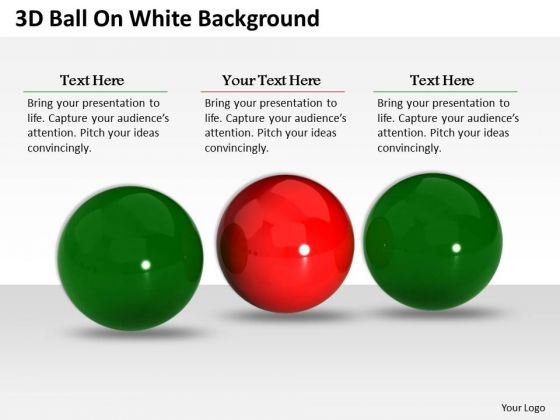 Business Integration Strategy 3d Balls White Background Icons