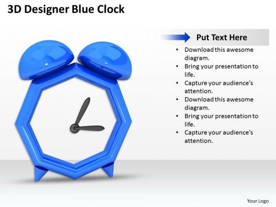 Business Integration Strategy 3d Designer Blue Clock Icons