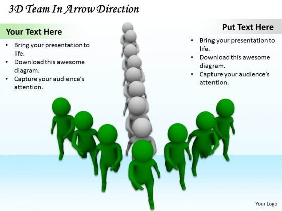 Business Integration Strategy 3d Team Arrow Direction Basic Concepts