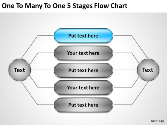 Business Integration Strategy To Many 5 Stages Flow Chart Examples