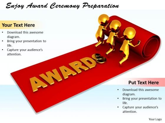 Business Intelligence Strategy Enjoy Award Ceremony Preparation Concepts