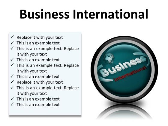 Business International Global PowerPoint Presentation Slides Cc