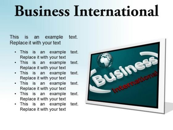 Business International Global PowerPoint Presentation Slides F