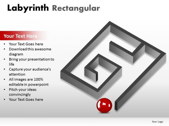 Business Labyrinth Rectangular PowerPoint Slides And Ppt Diagram Templates