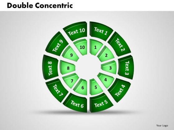 Business Leadership PowerPoint Templates Business 3d Double Concentric Rings Piece Ppt Slides