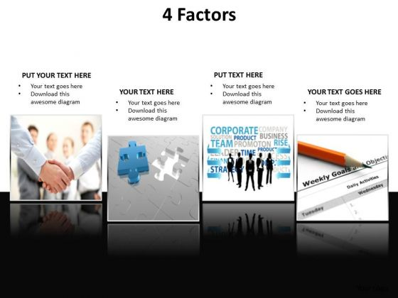 Business Leadership PowerPoint Templates Business 4 Factors Concepts Points Or Aspects Ppt Slides
