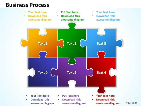 Business Leadership PowerPoint Templates Business Colorful Puzzle Business Process Ppt Slides