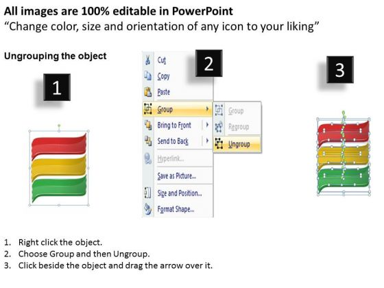 business_level_strategy_3_viewpoints_linear_process_simple_strategic_plan_template_ppt_slide_2