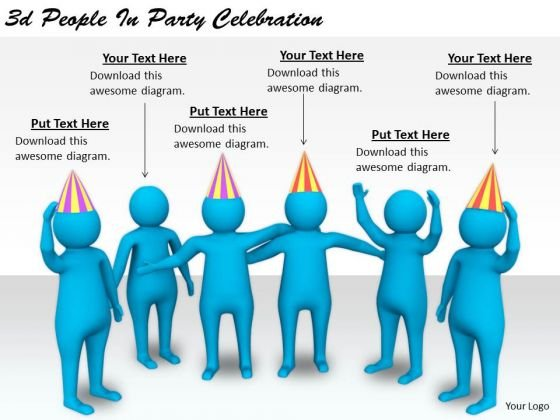 Business Level Strategy 3d People Party Celebration Characters