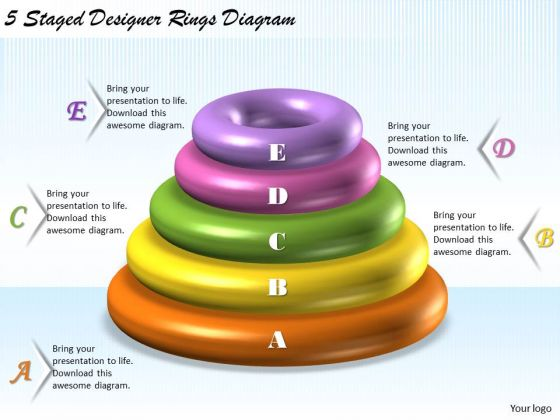 Business Level Strategy 5 Staged Designer Rings Diagram Strategic Planning Steps