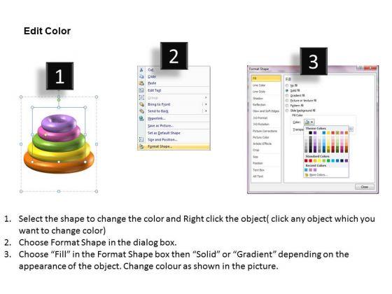 business_level_strategy_5_staged_designer_rings_diagram_strategic_planning_steps_3