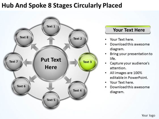 Business Level Strategy And Spoke 8 Stages Circularly Placed Formulation