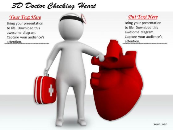 Business Level Strategy Definition 3d Doctor Checking Heart Character Modeling