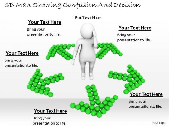 Business Level Strategy Definition 3d Man Showing Confusion And Decision Basic Concepts