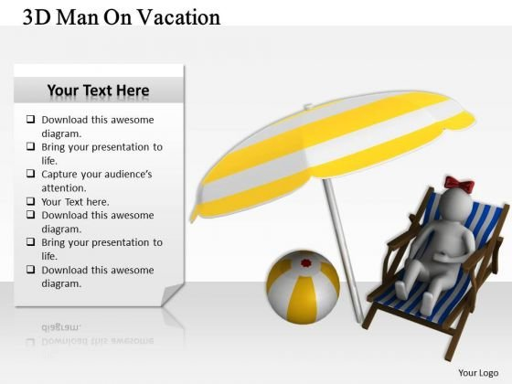 Business Level Strategy Definition 3d Man Vacation Character Models