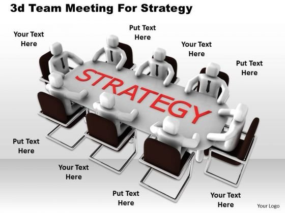 Business Level Strategy Definition 3d Team Meeting For Concept Statement