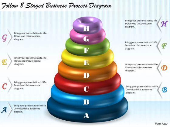 Business Level Strategy Definition 8 Staged Process Diagram Strategic Plan
