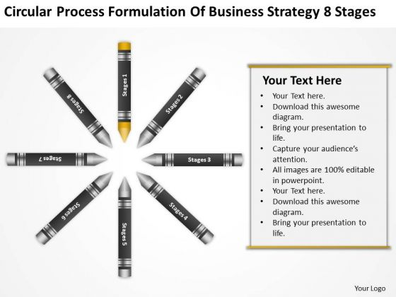 Business Life Cycle Diagram Formulation Of Strategy 8 Stages PowerPoint Templates