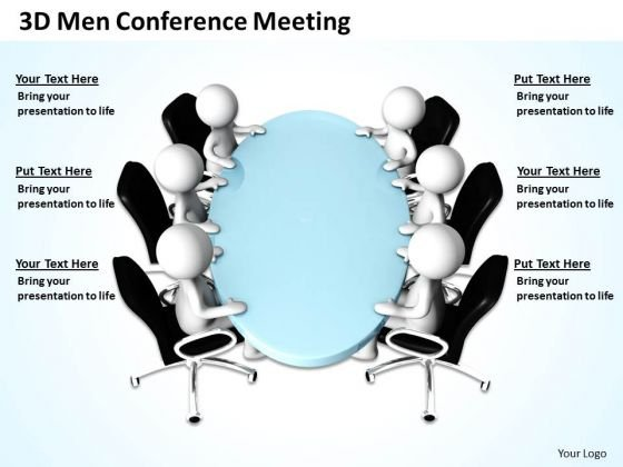 Business Logic Diagram 3d Men Conference Meeting PowerPoint Templates Ppt Backgrounds For Slides