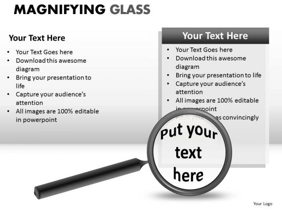 Business Magnifying Glass PowerPoint Slides And Ppt Diagram Templates