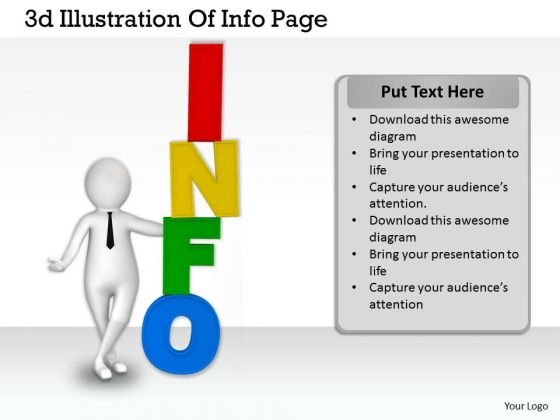 Business Management Strategy 3d Illustration Of Info Page Basic Concepts