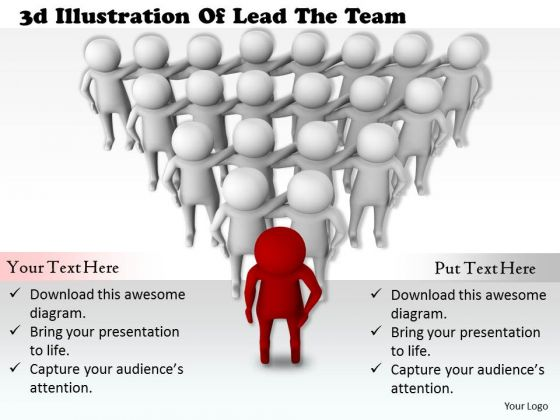 Business Management Strategy 3d Illustration Of Lead The Team Basic Concepts